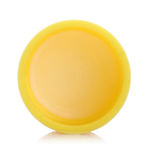 Yellow regular HDPE+EVA plastic screw caps with 20/410 neck finish