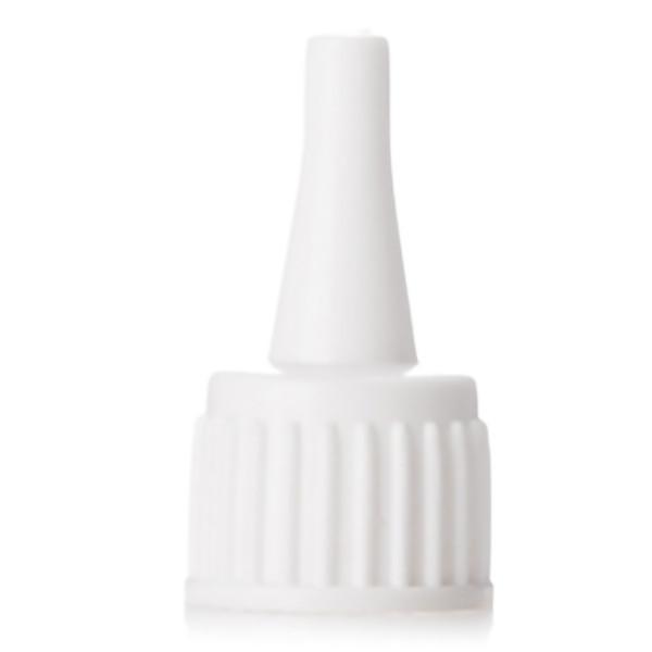 White HDPE glue bottle cap with 15/410 neck finish