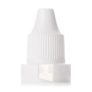 White unlined PP and children resistant drop cap with 12/410 neck finish