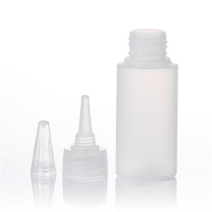 Sanle 60ml PE cylinder squeeze bottle with drop caps