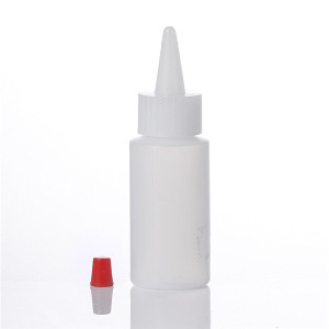 Sanle 30ml PE cylinder dropper bottle with twist cap