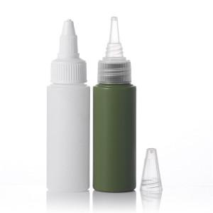 Sanle 35ml PE cylinder shampoo bottle with screw cap