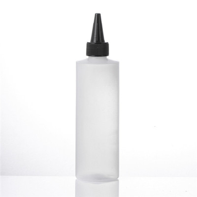 Sanle HDPE cylinder round 8 oz plastic bottles with trigger sprayer