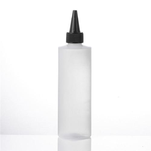 Sanle HDPE cylinder round 8 oz plastic bottles with trigger sprayer