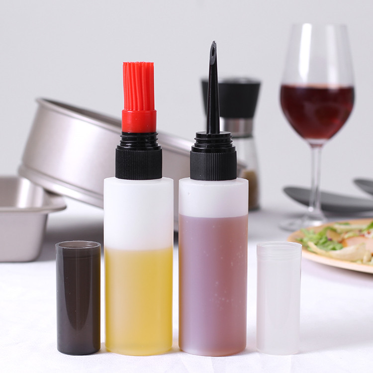 plastic oil squeeze bottles with Silicone brushes