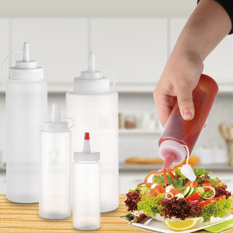 plastic ketchup squeeze bottles for sauce