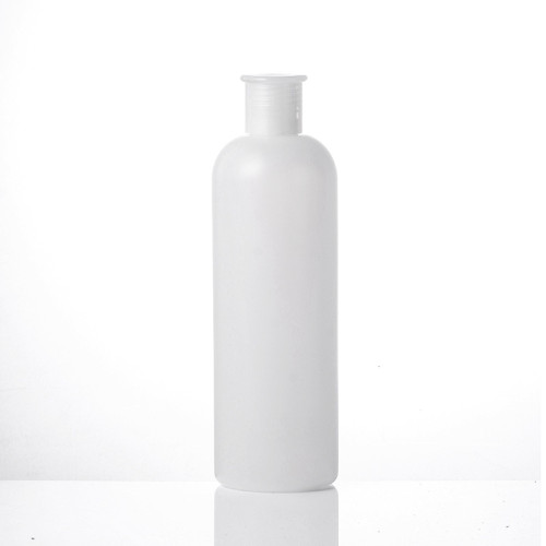 Sanle 500ml tall boston round nail polish remover HDPE plastic bottle with plug and screw cap