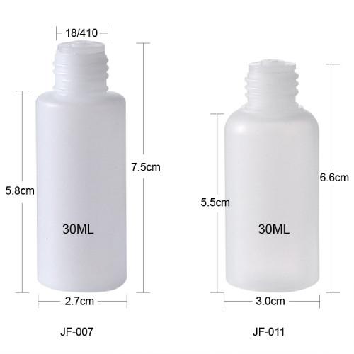 Sanle 30ml LDPE Squeeze empty plastic sample bottles with screw cap