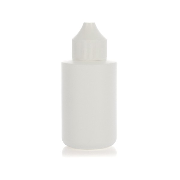 60ml PE cylinder dropper bottle w/ drop tip caps