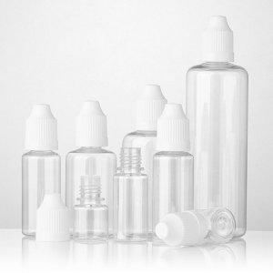 Empty squeeze bottles plastic eliquid e juice bottle PET dropper bottle with CRC Cap