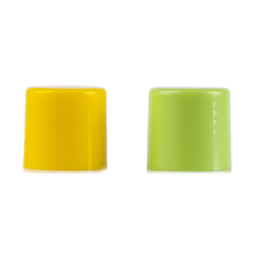 Green glossy PP plastic screw caps with 24-420 neck finish
