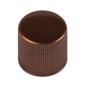 Brown PP plastic screw thread cap with 18-410 neck finish