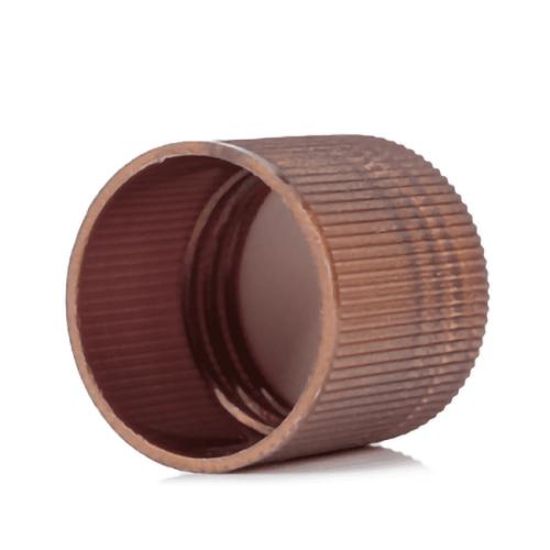 Brown PP plastic screw thread cap with 18-410 neck finish