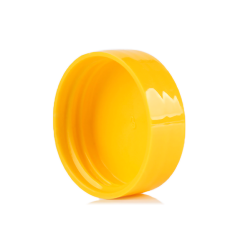 Colored glossy PP plastic bottle screw cap with 28-400 neck finish