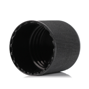 PP plastic black screw cap with 24-420 neck finish for regular replacement