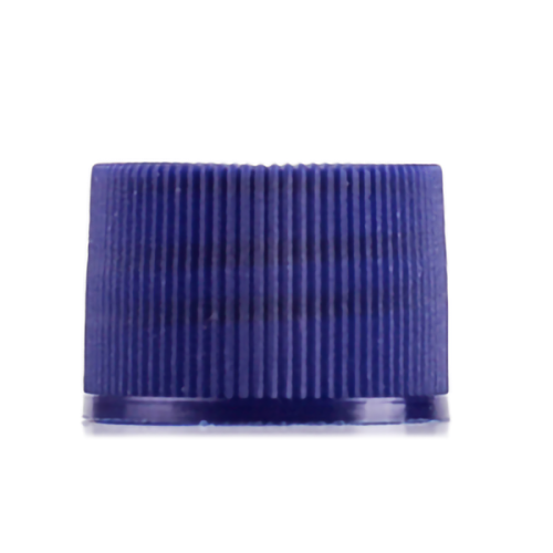 Colored blue screw thread cap with 24-410 neck finish