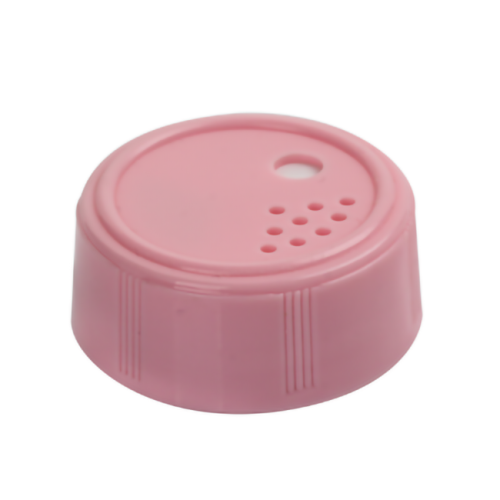 Pink PP salt caps with inliner dimension  is 3.7cm