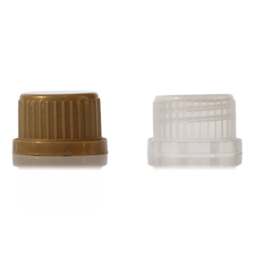 White HDPE tamper evident caps with 28/410 neck finish