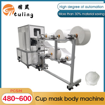 Automatic cup-shaped mask body forming machine