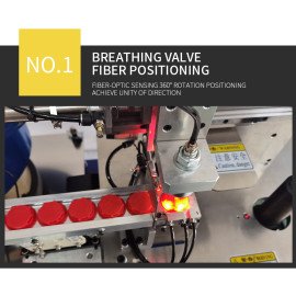 Semi-automatic ultrasonic circular crimping breathing valve machine