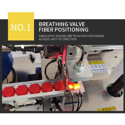 Semi-automatic ultrasonic circular crimping breathing valve machine