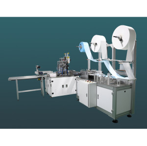 High-speed one-for-one flat mask machine