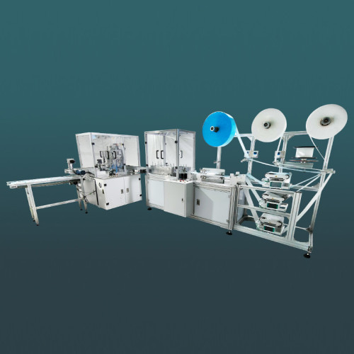 High-speed one-for-one flat face mask machine with protective cover