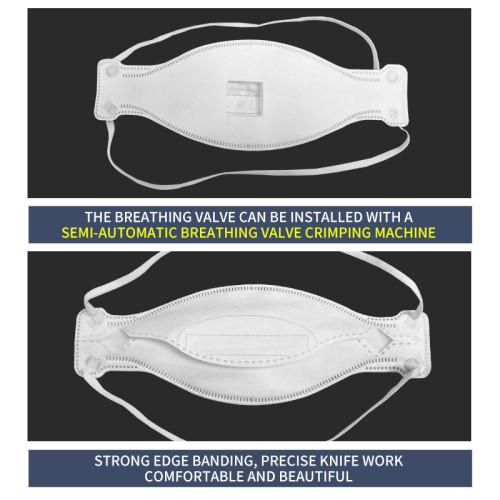 Fully automatic KF94 headband type one tow one mask machine