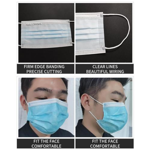 Automatic high speed 1+1 3ply  flat mask machine with 120pcs/min mask making machine