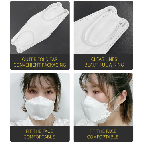 cheaper price fully automatic high-speed KF94 fish type mask making machine KF94 mask machine