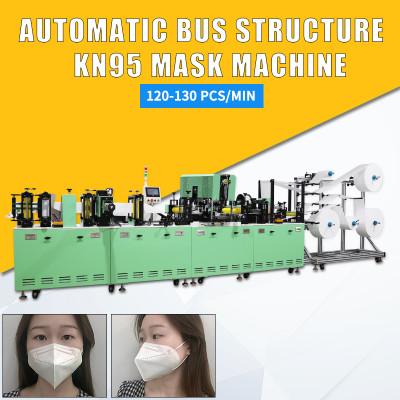 beautiful automatic high speed N95 KN95 mask machine with servo motor 100-120pcs/min