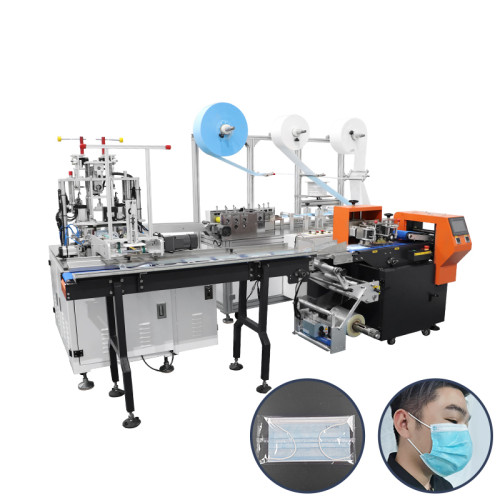 automatic high speed 3ply surgical face mask making machine connect with package machinery