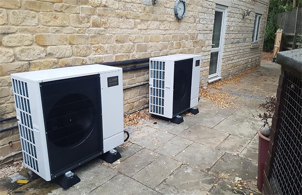 how to install an air source heat pump