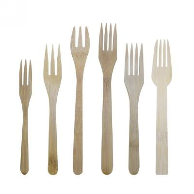 Fourchette en bambou réutilisable et naturelle