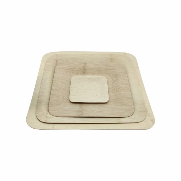 Natural And Disposable Bamboo Veneer Plate