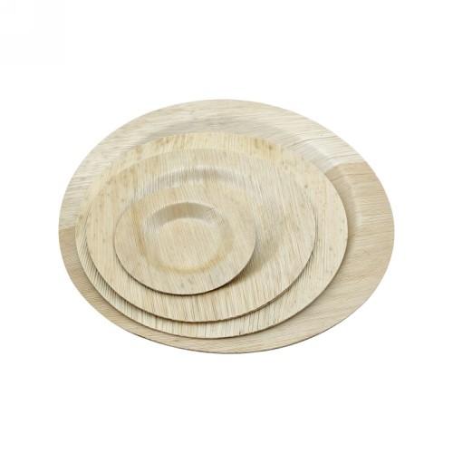 Plaque de feuille de bambou légère et jetable