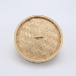 Natural And Eco-Friendly Bamboo Steamer   utensils   2-Tiers Chinese Food Steamers, Natural Bamboo Steam Basket, Great for dumplings, vegetables, chicken, fish, Dim Sum