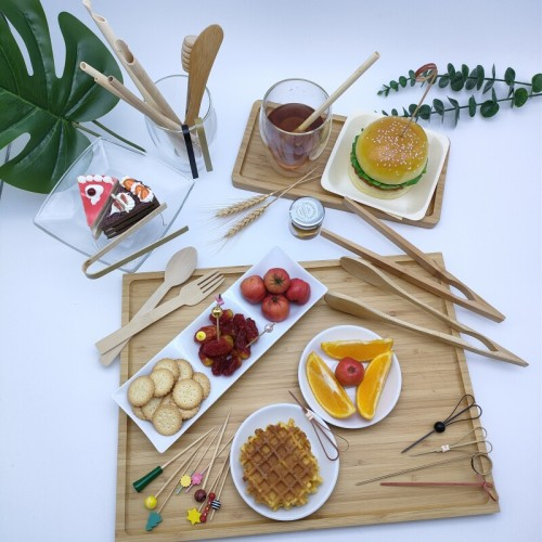 Reusable and Disposable Bamboo Tong | mini disposable tongs | serving tongs | serving utensils | buffet serving