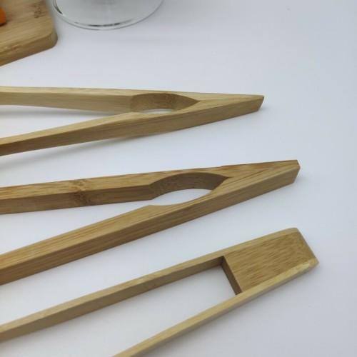 自然で再利用可能な竹のトング