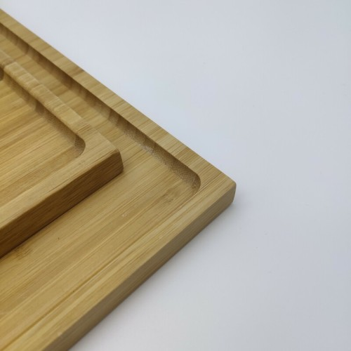 Solid And Reusable Bamboo Tray | Rectangle Bamboo Butler Serving Tray with Handle Serving Tray Bamboo Tray with Handles Great for Breakfast Trays Tea Tray Or Any Food Tray Good for Parties or Bed Tray