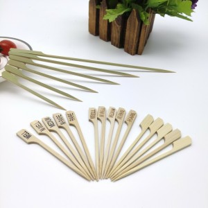 Green Bamboo Paddle Picks and Bamboo Skewers for BBQ,Appetiser,Fruit,Cocktail,Kabob,Chocolate Fountain,Grilling,Barbecue,Kitchen,Crafting and Party