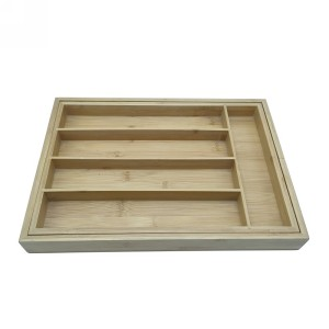Versatile and Compact Bamboo Utensil Box  Custom wholesale| Kitchen Drawer Organizer - Utensil Tray Drawer Organizer, Silverware Tray for Drawer, Silverware Organizer Drawer, Bamboo Drawer Organizer Kitchen Utensil Organizer, Cutlery Organizer in Drawer