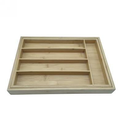 Vielseitige und kompakte Bambus-Utensilienbox