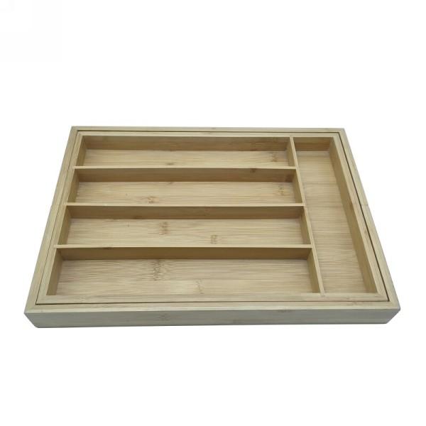 Versatile and Compact Bamboo Utensil Box  Custom wholesale| Kitchen Drawer Organizer - Utensil Tray Drawer Organizer, Silverware Tray for Drawer, Silverware Organizer Drawer, Bamboo Drawer Organizer Kitchen Utensil Organizer, Cutlery Organizer in Drawer