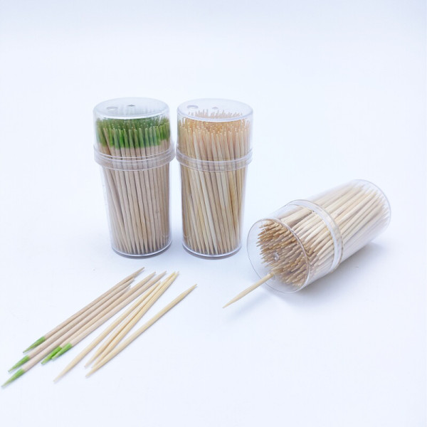 Single Pointed or Double Pointed Bamboo Toothpicks | Sturdy Safe Double Sided Party, Appetizer, Olive, Barbecue, Fruit, Teeth Cleaning Toothpicks.