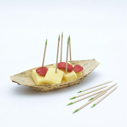 Einfach spitze oder doppelt spitze Bambus Zahnstocher