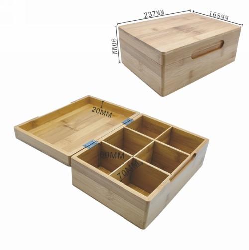 Stilvolle und hygienische Bambus-Aufbewahrungsbox