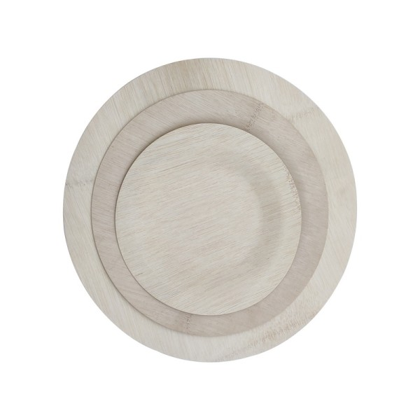 Natural And Disposable Bamboo Veneer Plate Eco-Friendly Plates - Elegant, Compostable and Biodegradable