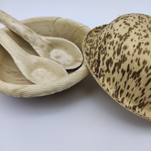 Disposable Bamboo Leaf bowl |Bamboo Leaf spoon | dishware | compostable | Eco-Friendly | Wholesale and Custom