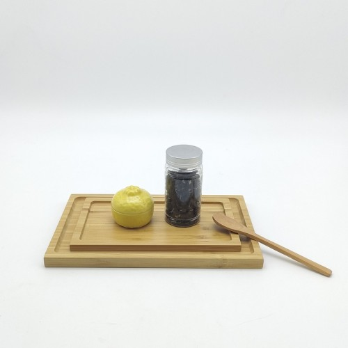 Bamboo Serving Tray  Suitable For Various Occasions And Uses Customizable Tea Trays Combo Barbecue(BBQ) Tray General Serving Tray Direct-sale Wholesales Customizable Text,Logo Guaranteed Natural Materials 100% Eco-friendly